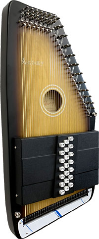 Ashbury 21 Bar Deluxe Autoharp Maple top with semi-gloss sunburst finish. Maple back