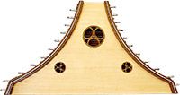 Atlas Plucked Psaltery Spruce top with walnut back and sides. 22 Plain steel strings