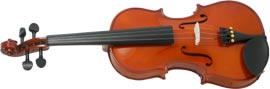 Valentino 3/4 Size Violin Outfit Carved solid spruce top, carved solid maple body with two piece back