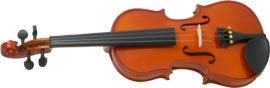 Valentino 1/2 Size Violin Outfit Carved solid spruce top, carved solid maple body with two piece back