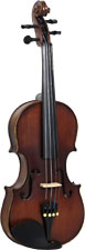 Valentino 1/4 Size Violin Outfit Carved solid spruce top, carved solid maple body with two piece back