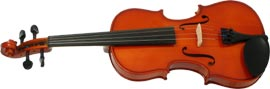 Valentino Full Size Violin Outfit Carved solid spruce top, carved solid maple back & sides, ebony fingerboard/pegs