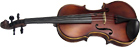 Valentino Full Size Violin Outfit Solid straight grain carved spruce top, beautiful flamed maple body.