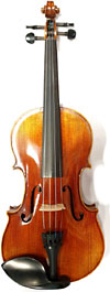 Valentino Full Size Violin Outfit Hand carved solid spruce top, subtle flamed solid maple body