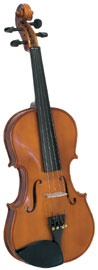 Cremona 3/4 Size Violin Outfit Cremona SV-75 Premier Novice 3/4 size Violin with Dyed Rosewood Fingerboard.