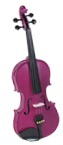 Cremona 1/4 Size Violin Outfit, Rose US-made Prelude strings, the educator's preferred strings for students.