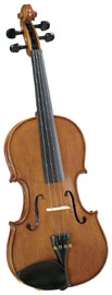 Cremona 1/2 Size Violin Outfit Cremona SV-175 1/2 size Premier Student Violin with Solid Maple Back and Sides.
