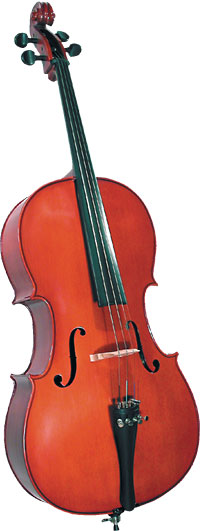 Cremona 3/4 Size Cello Outfit Cremona SC-100 3/4 Size Premier Novice Cello with Dyed Rosewood Fingerboard.