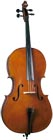Cremona 3/4 Size Cello Outfit with bow Flamed maple in translucent light red finish for a quality cello look.
