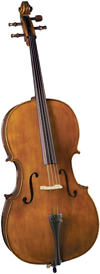 Cremona 4/4 Size Cello Outfit with bow Select tonewoods, quality workmanship for better sound and hard shell foam case.