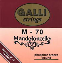 Galli Mandocello Strings Phosphor bronze wound, 10 strings C, G, D, A, E