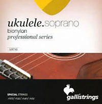 Galli Uke Strings, Soprano BioNylon String gauges: 022 .032, .040 .022