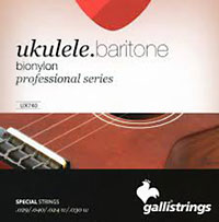 Galli Uke Strings, Baritone BioNylon String gauges: 029 .040, .024w .030w
