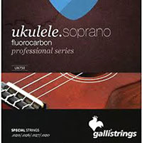 Galli Uke Strings, Sop Fluorocarbon Fluorocarbon. Keeps the pitch longer than traditional nylon