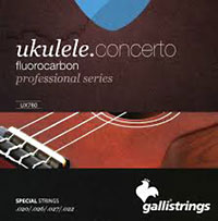 Galli Uke Strings, Concert Fluorocar Fluorocarbon. Keeps the pitch longer than traditional nylon