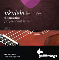 Galli Uke Strings, Tenor Fluorocarbon Fluorocarbon. Keeps the pitch longer than traditional nylon