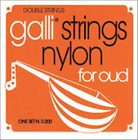 Galli Arabic Oud String Set Silver plated copper and clear nylon strings. 12 strings