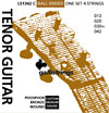 Galli Tenor Guitar Strings For GDAE tuning, Phosphor Bronze wound, ball ended.