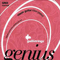 Galli Classic Guitar String Crystal Normal tension. Silverplated. Gauges: .029, .033, .041, .029w, .037w, .044w
