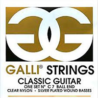 Galli Classic Ball Ended Strings Clear nylon and Silverplated wound bass strings