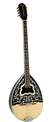 Sakis Model 2 Greek Bouzouki 19 Black walnut striped back, rosewood fingerboard