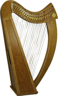 Stoney End Double Strung Harp, Truitt 44 strings. Small lap harp but double strung! Fully levered with Truit levers